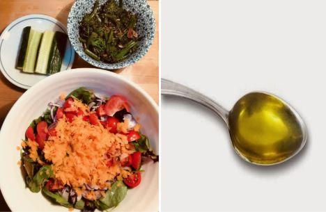 Obesity - salad vs olive oil